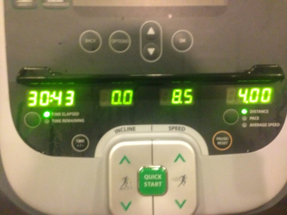 A nice 4 miles at 7:40 pace!