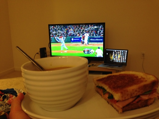 Dinner and the Red Sox... could it be better than this??