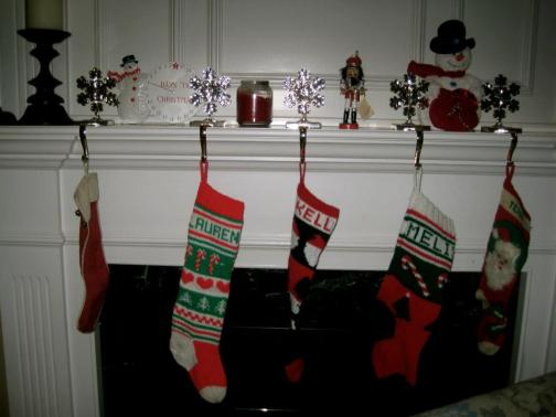 Stockings Hanging by the fireplace