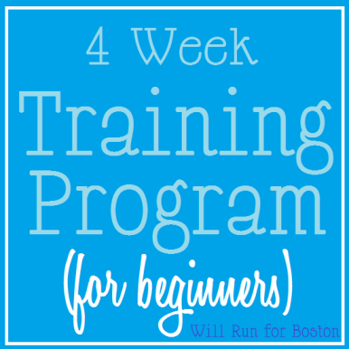 4 Week Training Program (for beginners)