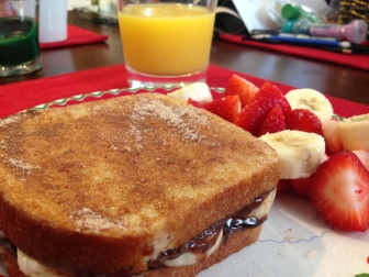Banana-Nutella Stuffed French Toast