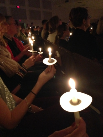 Candle lit service