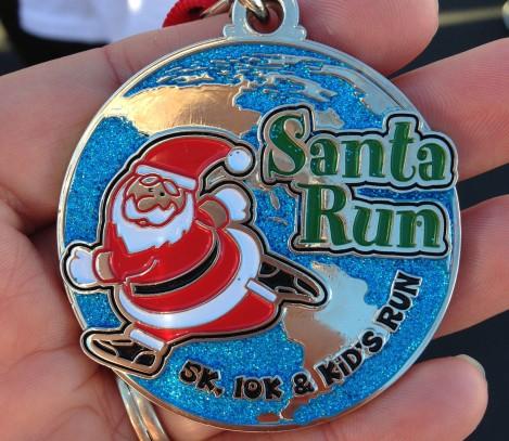 Santa Run 2013 Medal