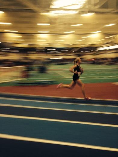 Melissa running 1000m 12/28/2013
