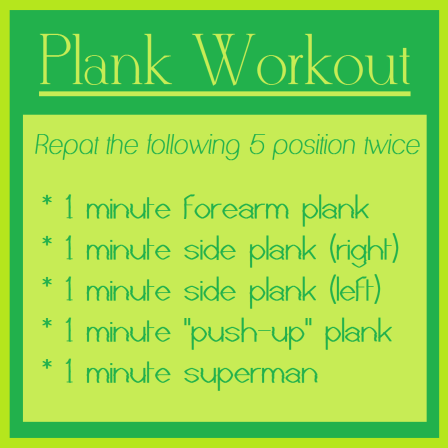 10 minute plank workout