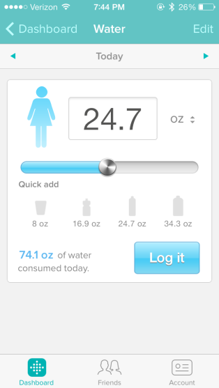 FitBit Water Tracker