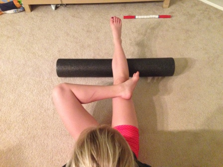 Calves Foam Rolling - Crossed Knees