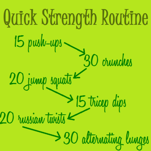 quick strength routine