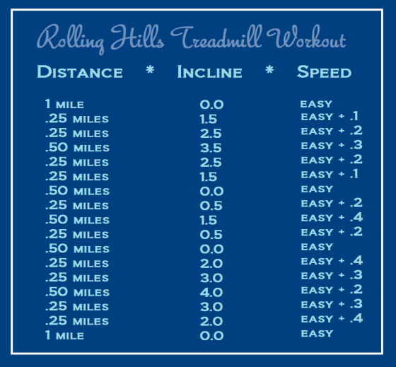 Rolling Hills Treadmill Workout