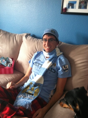 All decked out for Man City!