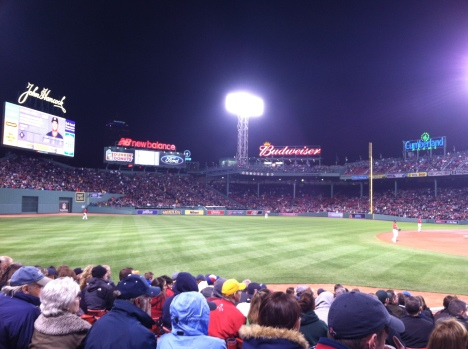 Cheering on the Sox at Fenway!